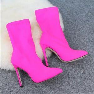 Stretch Fashion Heel Boots